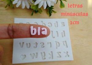 Molde de silicone de Alfabeto/ Letras Minúsculas