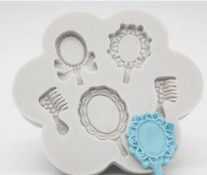 Molde de silicone de Acessórios: Penteadeira, Pente e Espelho