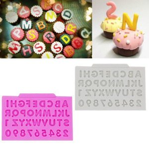 Molde de silicone de Mini Letras/ Alfabeto e Números