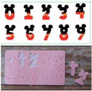 Marcador de Acrílico Números do Mickey