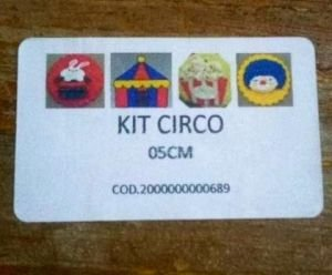 Kit Cortador de Circo: coelho na cartola, tenda de circo, pipoca e palhaço (5 cm)