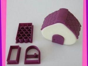 Kit Cortador 3D Casinha ( Telhado, Porta, Retângulo maior e menor.)