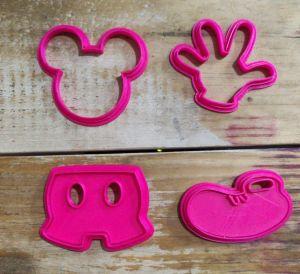 Kit Cortador 3D  Mickey  (5 cm)