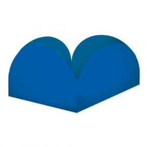 Formas p/ Doce 4 Pétalas Azul Royal
