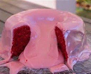 Forma Torta Suíça (Bolo Vulcão) 17 x 8