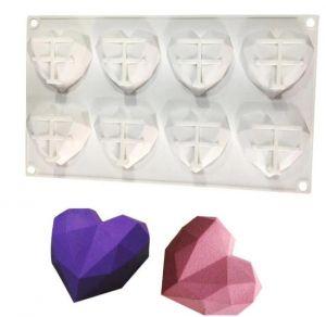 Forma Silicone Coração Diamante (Geométrico)