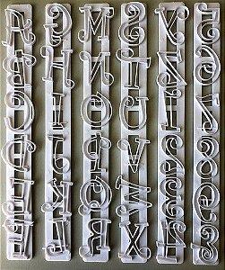 Cortador Régua Letras Desenhadas Maiúsculas, Minusculas e Números
