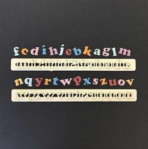 Cortador Régua Letras Alfabeto Minusculas e Números FMM