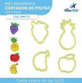 Cortador Frutas - Banana, Maçã, Abacaxi e Uva - 4 peças