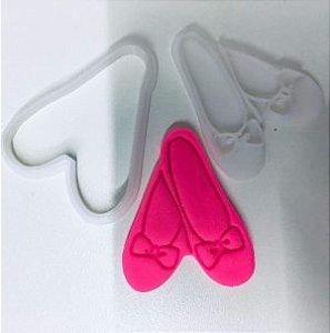 Cortador 3D Sapatilha de Bailarina 5 cm