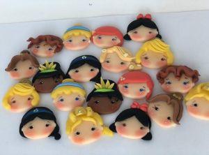 Cortador 3D Rosto das Princesas 5 cm