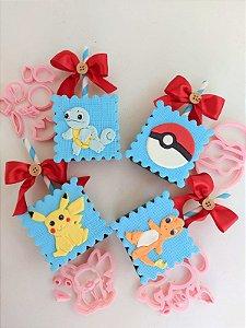 Cortador 3D Pokemon 6 peças