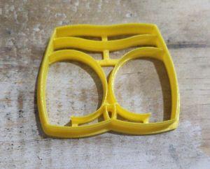 Cortador 3D Calcinha Costa 5,5 cm