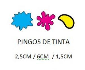 Cortador 3D  Pingo de Tintas 1,5 - 6,0 - 2,5 cm