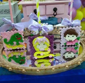 Cortador 3D  Kit Rapunzel (Princesa, Príncipe, Lagarto e Torre) 5 cm