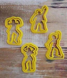 Cortador 3D  Dançarinos com apoio 5 cm