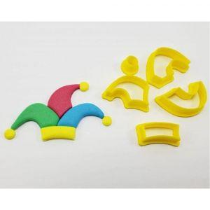 Cortador 3D  Chapéu Bobo 6 cm
