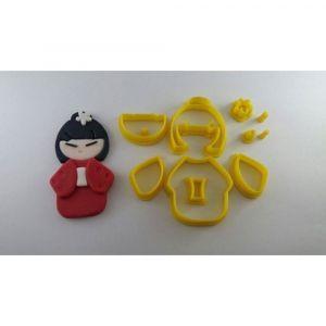 Cortador 3D  Boneca Kimono 8 cm