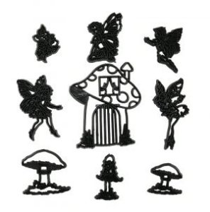 Cortador de Fadas, Cogumelos e Flores
