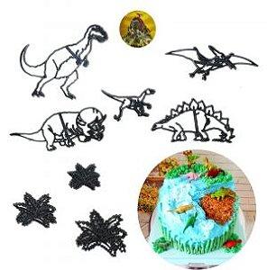 Cortador de Dinossauros e Folhas