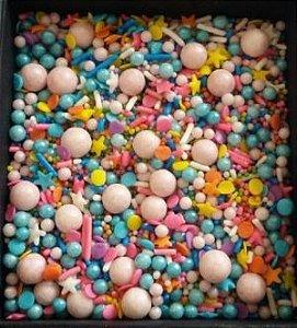 Confeitos/ Sprinkles Coloridos de Unicórnio