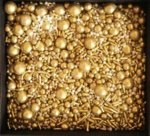 Confeitos/ Sprinkles Coloridos Gold