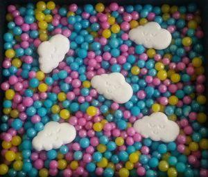 Confeitos/ Sprinkles Coloridos Chuva de amor