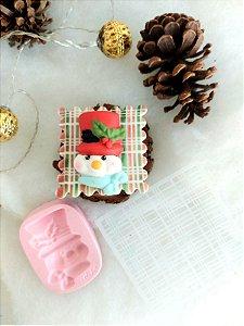 Molde de silicone do Boneco de Neve / natal