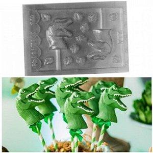 Fôrma Acetato Dinossauro e Folhas Chocomold (017)