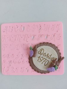Marcador Carimbo  letras Maiúsculas e Minúsculas para Doces e bolos 3