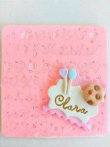 Marcador Carimbo  letras Maiúsculas e Minúsculas para Doces e bolos 4