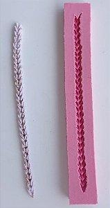 Molde de Silicone trança / cordão / acabamento / rodapé