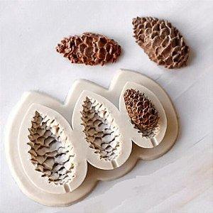 Molde de silicone pinhas de natal