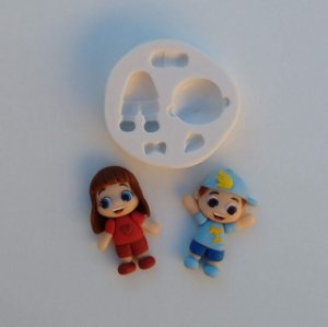 Molde de silicone Menio / Menina Lucas Neto Gigi