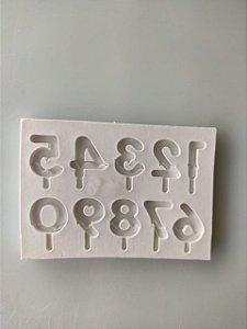 Molde de silicone números doce