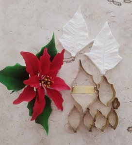 Cortador da flor polinésia / bico de papagaio / flor de natal / com 07pcs