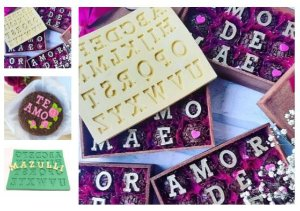 Molde de silicone Letras / Alfabeto Maiúscula