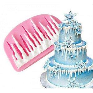 Molde de Silicone acabamento gelo / natal / frozen