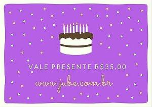 Vale Presente  R$35,00