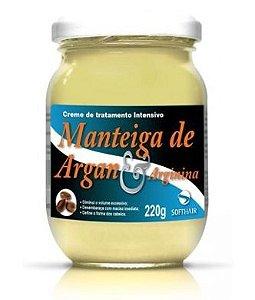 Manteiga Argan e Arginina SoftHair 220g