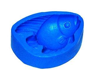 Forma de fazer sabonete e velas - Peixe 7x5
