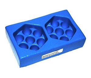 Forma de fazer sabonete e velas - Massageador Duplo 6x6,5