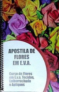 Apostila de Flores em E.V.A 57 páginas colorida