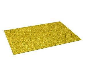 E.V.A. Amarelo Ouro - Gliter