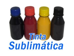 Tinta sublimática 400ml (100ml cada cor)