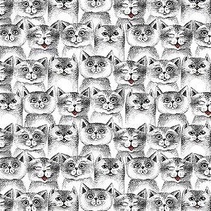 TECIDO COLEÇÃO CAT LOVERS CAT 14 TRICOLINE 100% ALGODÃO 0,50 POR 1,50 LARGURA