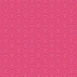 Tecido Leques Pink digital 100% algodão