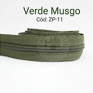 Ziper de Metro n°5 Verde Musgo