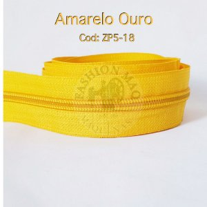 Ziper de Metro n°5 Amarelo Ouro