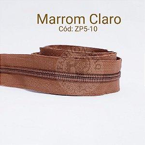 ZÍPER DE METRO N°5 MARROM CLARO